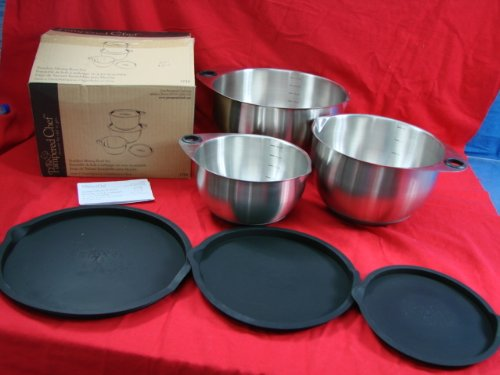 The Pampered Chef Stainless Mixing Bowl Set of 3