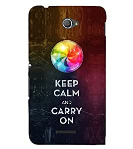 EPICCASE Carry on like a boss Mobile Back Case Cover For Sony Xperia E4 (Designer Case)
