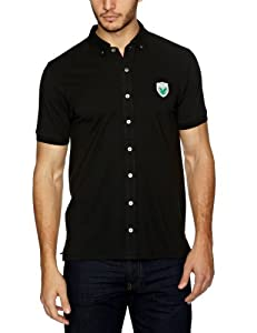 Lyle and Scott Green Eagle Men's Button Through Polo - Black, X-Large (Old Version)