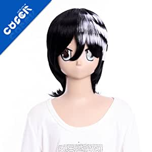 SOUL EATER DEAT THE KID GH287 35cm 13.7inch 142g Lolita Wig Fashion Wig Cosplaywig Coserwig Anime Party Wig Free Shipping