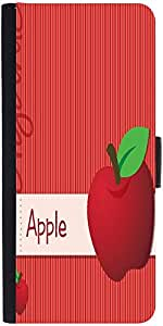 Snoogg Bright Organic Red Apple Card In Vector Formatdesigner Protective Flip...