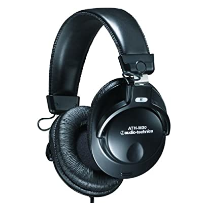 Audio-Technica ATH-M30 Professional Studio Monitor Closed-back Dynamic Stereo Headphones by Audio-Technica