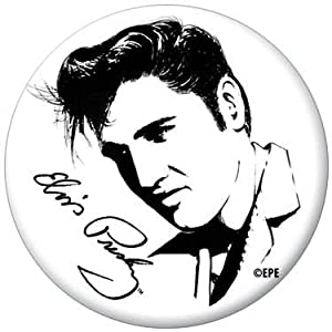 Amazon.com: Elvis Presley Black and White Drawing Button 81102 [Toy
