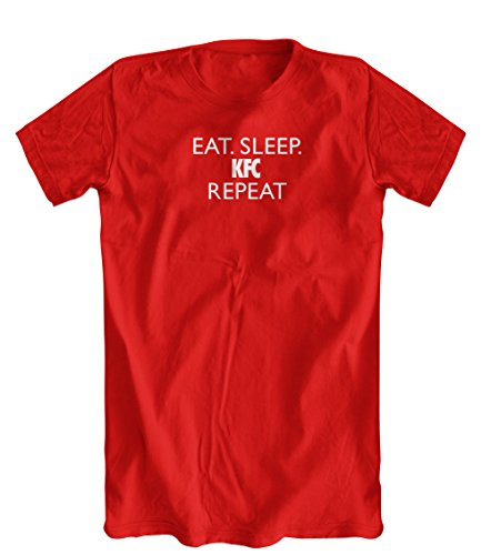 eat-sleep-kfc-repeat-funny-t-shirt-mens-red-small