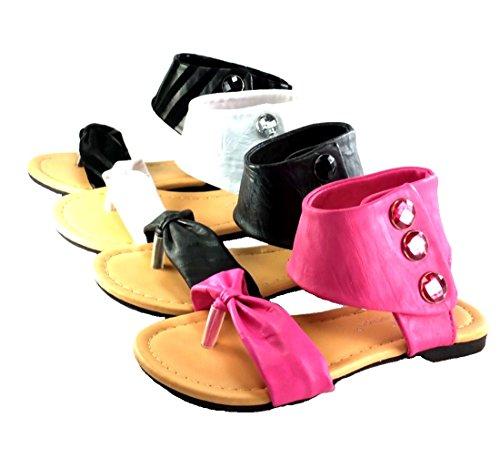 Girl's Cute Toe Strap Spring/Summer Sandals- Velcro & zipper style Easy Slip