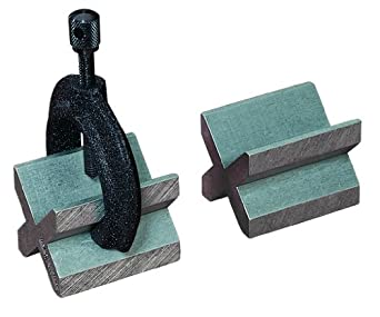 Starrett 268C Iron 2 V-Blocks (1 Pair) And Clamp Complete Set