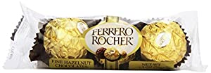 Ferrero Rocher, 3 Count (Pack of 24)