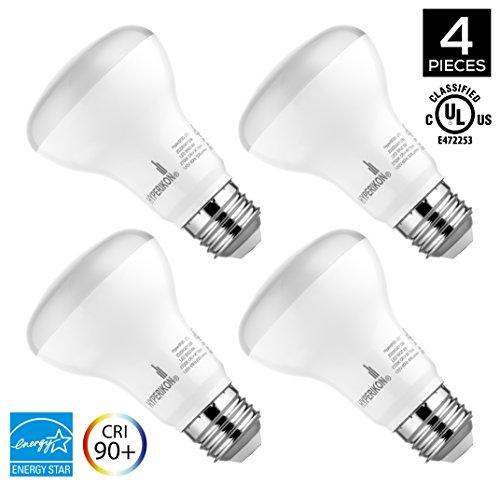 Hyperikon, BR20 Dimmable LED Light Bulb, 8W (50W equivalent), 2700K (Warm White), CRI 90+, Wide Flood Light Bulb, Medium Base (E26), UL & ENERGY STAR, 4-Pack (Led Lights Small Screw compare prices)