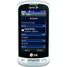 LG Rumor Reflex Phone, White (Sprint)