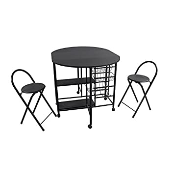 lip ensemble repas 1 1 table 2 chaises noir cuisine maison maison m54. Black Bedroom Furniture Sets. Home Design Ideas