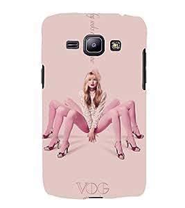 EPICCASE Socking Girl case Mobile Back Case Cover For Samsung Galaxy J1 (Designer Case)