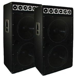 Amazon.com: Dual 15-Inch Pair Pro Audio Karaoke DJ Concert ...