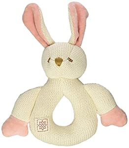 Miyim Simply Organic Kint Rattle Teether, Bunny, 0-3 Months
