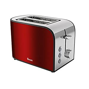 Swan 2 Slice Rouge Toaster, Red from Swan
