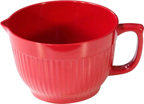 Yumi Nature+ 495 Batter Bowl With Handle, 3-Quart, Red
