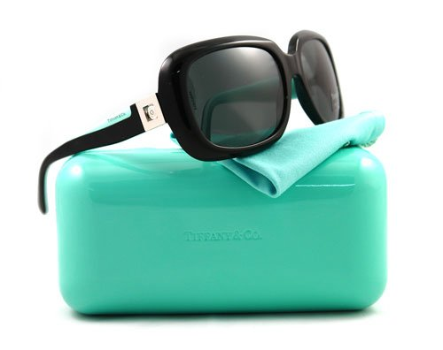 Tiffany & Co. Women's 4034b Black Frame/Smoke Grey Lens Plastic Sunglasses