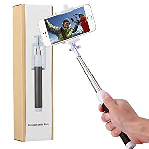 iRAG® Selfie Stick with Bluetooth Remote Shutter for Apple, Android, GoPro & Digital Camera