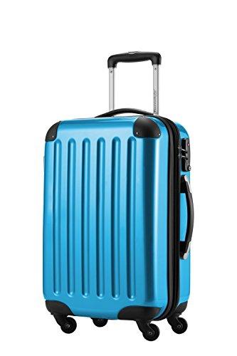HAUPTSTADTKOFFER, Bagaglio a mano Rigida Alex, Taglia 55 cm, 42 Litri, Blu Ciano, Lucchetto a combinazione e tag bagagli
