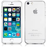 SDTEK Clear iPhone 5 5S Coque Housse Silicone Etui Case Cover Transparent Crystal Clair Soft Gel TPU