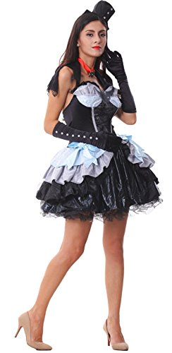 AvaCostume Women's 4 Pieces Sets Vampire Outfit Tutu Dress Costumes