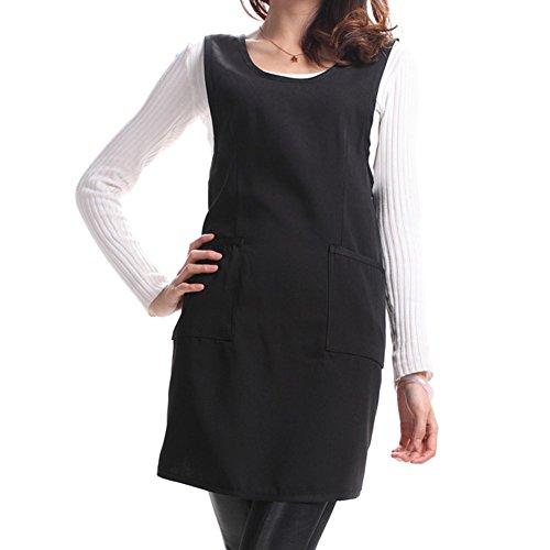 TININNA moda Grembiule,Tuta Senza Maniche In Cotone (nero)