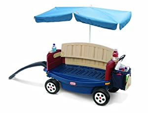 Little Tikes Deluxe Ride and Relax Wagon with Umbrella (Canopy)