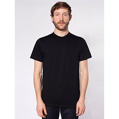 american-apparel-unisex-baumwoll-t-shirt-kurzarm-medium-schwarz