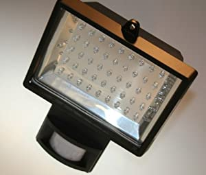 1 X Led Low Energy Flood Light With Pir Sensor, 45 Leds With Only 3watts Of Power Consumption, Leds Are The Most Energy Efficient Method Of Lighting, Black Diecast Aluminium Body, Ip54 Rated Perfect Security Lighting - All Orders Received Before 1pm Will