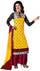 Manmauj Women's Cotton Unstitched Dress Material (MM10027DYLW, Yellow)