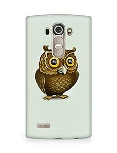 Amez designer printed 3d premium high quality back case cover for LG G4 (Owl pattern minimalism art)