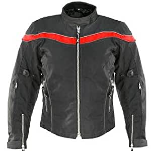 Vulcan VNE-0021 Womens Armored Black and Red Maxdura Fabric Jacket Sz 2XL
