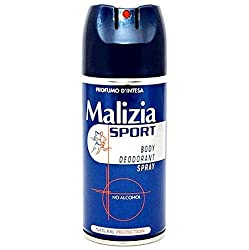 Malizia Sport Body Spray Deodorant 150 Ml