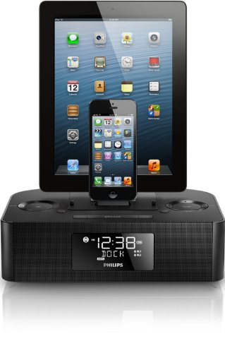 Philips Aj7260D/37 Dual Dock Triple Charging Clock Radio