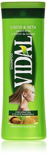 Vidal - Shampoo, Liscio e Seta con Keratina e Olio di Mandorla - 250 ml