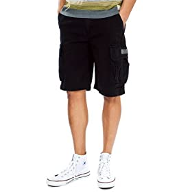 survivor Cargo Shorts-Black