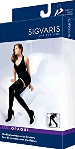 Soft Opaque 20-30 mmHg Closed Toe Thigh High Sock Size: Small Long (SL), Color:... by Sigvaris