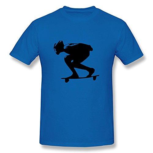 Downhill Longboard Girl Men'S Slim Fit Tshirts