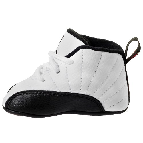 Nike (Gp) Crib Jordan 12 Retro Basketball Shoes, White, 1 M Us