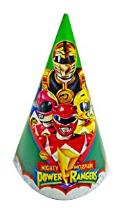 Mighty Morphin Power Rangers Birthday Party Hats - 8pk. by Paper Art