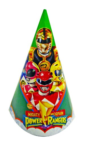 Mighty Morphin Power Rangers Birthday Party Hats - 8pk.