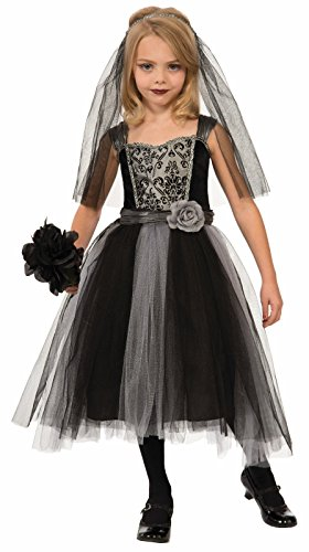 Gothic Bride of Darkness Costume Fancy Dress Child Girls Halloween Black Gray