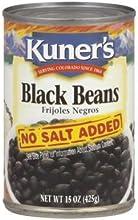 Kuner39s Black Beans- No Salt Added-15 Oz Compare to Eden Black Beans