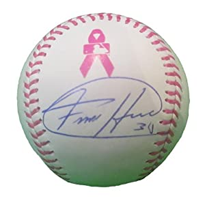 Felix Hernandez Autographed Signed Rawlings Official MLB Breast Cancer Awareness...