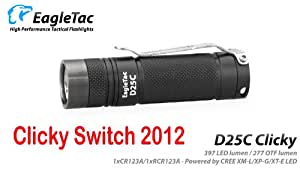 Eagletac D25C Clicky 397 Lumens CREE XM-L U2 LED Pocket Light - Clicky Switch Model