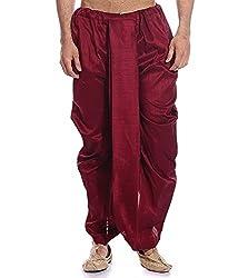 Royal Mens Maroon Ryan Silk Ready To Wear Dhoti