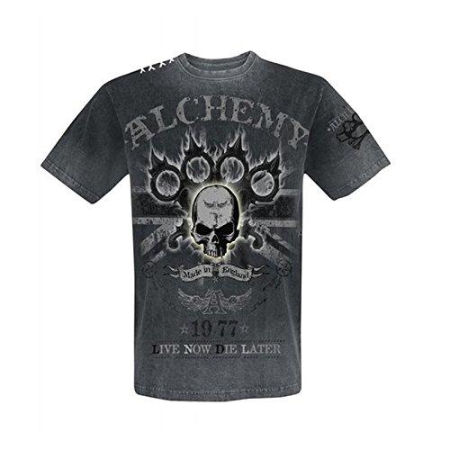 Alchemy England Apparel -  T-shirt - Uomo grigio small