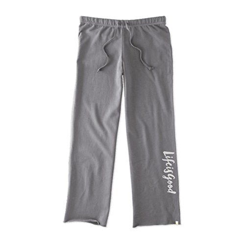 Life is good Fleece Lounge Pants Lig Painted Pants, Slate Gray, Large (Life Is Good Women Sweatpants compare prices)