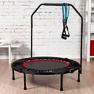 Urban Rebounder top seller Package as used by Madonna with optional stabilisation handle bar, and 9 fat burning, body sculpting workouts on 2 amazing DVDS