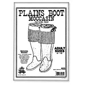 Tandy Leather Plains Boot Moccasin Pattern Pack 6035-00