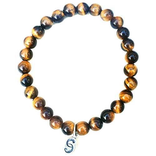 apoccas-semi-precious-crystal-bracelet-agni-tigers-eye-amber-brown-6-mm-diameter-sterling-silver-tag